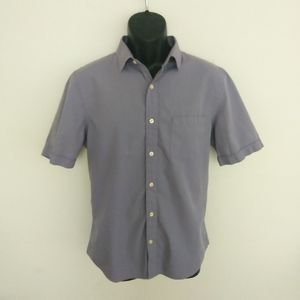 Perry Ellis Short Sleeve Button Up Slimfit Large